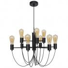 Ceiling Lamp AIXA 9xE27 H.Reg.xD.60cm Black