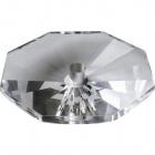 Crystal octagon bobech 2,5xD.10cm central hole 12mm transparent