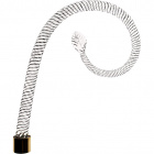 Glass ornamental twisted arm 20cm transparent with golden tip