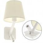 Wall Lamp ABBY 1xE27+1x3W LED L.20xW.23xH.38cm White