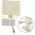 Wall Lamp ABNA 1xE27+1x3W LED L.20xW.21xH.38cm White