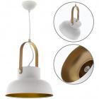 Pendant Light GUIMAR 1xE27 H.Reg.xD.23cm White/Gold