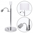 Base for Table Lamp MELTON with read/write adjustable arm 1xE27+1x1W LED H.Reg.xD.20cm Chrome