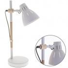 Table Lamp DALVA 1xE27 H.47xD.23cm White/Wood