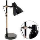 Table Lamp DALVA 1xE27 H.47xD.23cm Black/Wood