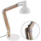 Table Lamp DARCI 1xE27 H.Reg.xD.35cm White/Wood
