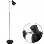 Floor Lamp DALVA 1xE27 H.147xD.33cm Black/Wood