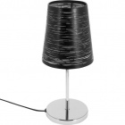 Table Lamp FIA 1xE14 H.32xD.14cm Black/Chrome