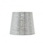 Lampshade NOVA round & conic shiny fabric with clamp H.12xD.15cm Silver