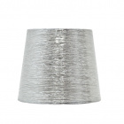 Lampshade NOVA round & conic shiny fabric with fitting E27 H.19,5xD.25cm Silver