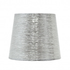 Lampshade NOVA round & conic shiny fabric with fitting E27 H.23xD.35cm Silver