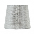 Lampshade NOVA round & conic shiny fabric with fitting E27 H.28xD.40cm Silver