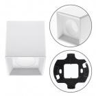 Frame for Plafond ONIRO square L.9,6xW.9,6xH.10cm Polycarbonate (PC) White