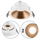 Frame for Downlight ONIRO round H.3,9xD.8,8cm Polycarbonate (PC) Gold