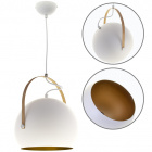 Pendant Light ORIANE 1xE27 H.Reg.xD.25cm White/Gold