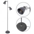 Floor Lamp UTAH 2xE27 H.158xD.36cm Grey