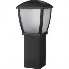 Pillar DRAVE IP44 1xE27 L.17xW.17xH.60cm Aluminium+PC Black