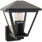 Wall Lamp DORNELA IP44 1xE27 L.16xW.19xH.22cm Aluminium+Glass Anthracite