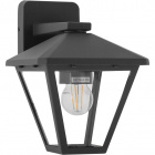 Wall Lamp DORNELA IP44 1xE27 L.16xW.20xH.21,5cm Aluminium+Glass Anthracite