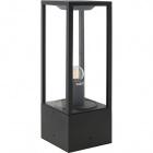 Pillar NOZELO small IP44 1xE27 L.14xW.14xH.40cm Aluminium+Glass Anthracite