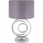 Table Lamp AMADORA 1xE27 H.52xD.32cm Chrome