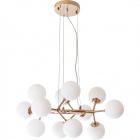 Ceiling Lamp ANABEL 12xG9 H.Reg.xD.65cm Gold/White