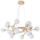 Ceiling Lamp ANABEL 12xG9 H.Reg.xD.80cm Gold/White