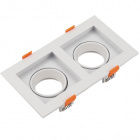 Frame for Downlight HECATE 2xGU10/GU5.3 (MR16) L.18,9xW.10,2xH.3,6cm Polycarbonate (PC) White