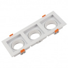 Frame for Downlight HECATE 3xGU10/GU5.3 (MR16) L.27,2xW.10,2xH.3,6cm Polycarbonate (PC) White