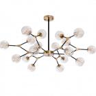 Ceiling Lamp ANYA 18xG9 H.60xD.107cm Black/Bronze