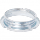 Zinc-plated shade ring for G9 lampholder, in metal