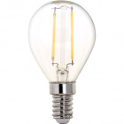Light Bulb E14 (thin) Ball CLASSIC LED 2W 4000K 250lm Transparent-A++