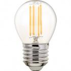 Light Bulb E27 (thick) Ball CLASSIC LED 4W 2700K 470lm Transparent-A++