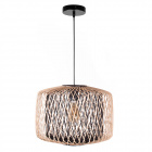 Pendant light BAMBOO D.39cm 1xE27 in black and natural bamboo