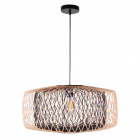 Pendant light BAMBOO D.59cm 1xE27 in black and natural bamboo