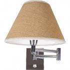 Base for Wall Lamp AMERICANO 1xE14 L.8xW.30xH.16cm Chrome