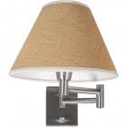 Base for Wall Lamp AMERICANO 1xE14 L.8xW.30xH.16cm Satin Nickel