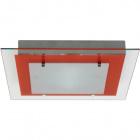 Plafond BELÉM square 1xR7s 118mm L.29xW.29xH.4cm Red