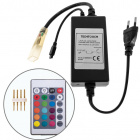 Controlador RGB IR c/comando remoto 230Vac 1,2kW