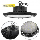 High Bay SUPERVISION dimmable IP65 1x150W LED 15000lm 6400K 90° H.15xD.34cm Black