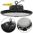 High Bay SUPERVISION dimmable IP65 1x250W LED 25000lm 6400K 90° H.18,5xD.39cm Black