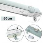 Waterproof Lamp LINESTA IP65 1xG13 T8 LED 60cm W.65,6xW.8,0xH.9,0cm Gray