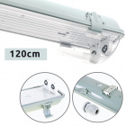 Waterproof Lamp LINESTA IP65 2xG13 T8 LED 120cm W.126xW.11,5xH.9,0cm Gray