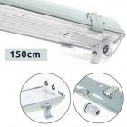 Waterproof Lamp LINESTA IP65 2xG13 T8 LED 150cm W.156xW.11,5xH.9,0cm Gray