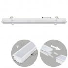 Recessed Linear Light LINEX B2 60cm 1x20W LED 1600lm 6400K 110° L.61,5xW.6,5xH.3,5cm White