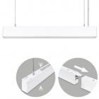 Suspending Light LINEX B2 120cm 1x40W LED+1x16W LED 3200lm 4000K 110° L.118xW.4xH.Reg.cm White