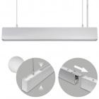 Suspending Light LINEX B2 60cm 1x20W LED+1x8W LED 1600lm 6400K 110° L.57xW.4xH.Reg.cm Aluminium
