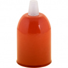E27 cover for lampholder D.48Xa.65mm with accessories metal orange