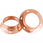 Copper plated shade ring for E27 metal lampholder H.15,5mm D.60mm, in metal