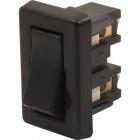 Interruptor retangular preto 029289